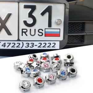 Image 1 - FLYJ 4 шт. резьба болты для рамки номерного знака для JDM bmw audi Hyundai Honda Toyota Lada nissan Benz Kia ALFA ROMEO ford