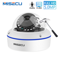MISECU Super HD 5MP 4MP 2MP Surveillance IP POE Camera 1080P Audio Microphone Dome Indoor Security Camera Email Push ONVIF P2P