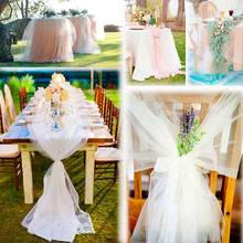 48x500CM Crystal Tulle White Spool Sheer Organza Tulle Fabric for Wedding tulle Mariage Arch Decoration Party DIY Chair Sashes