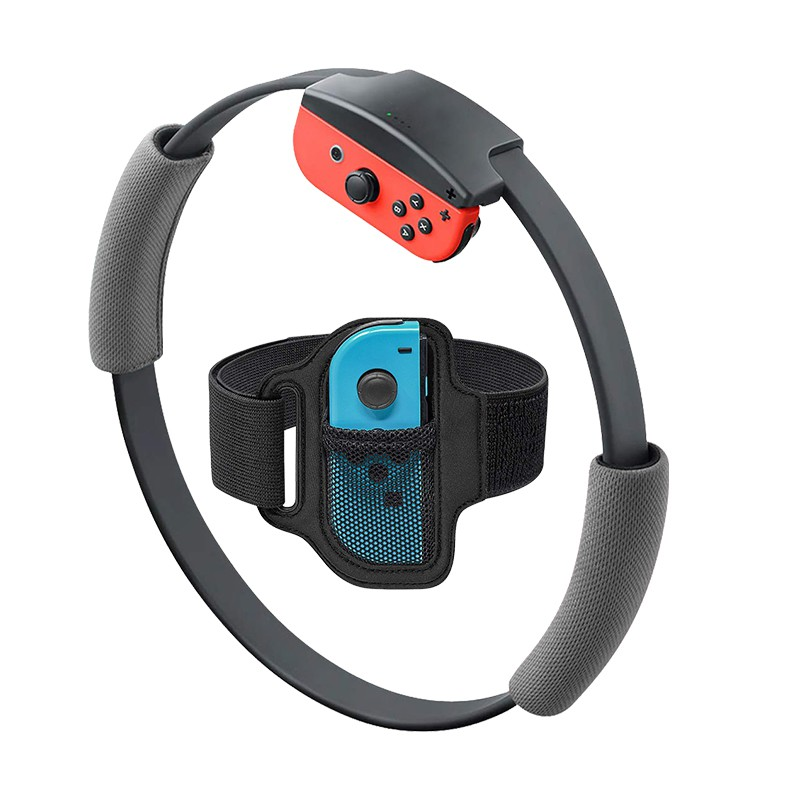 Sport Band Non-Slip Ring-Con Grips For Nintend Switch Joy-con Ring Fit Adventure Game Adjustable Elastic 56cm Leg Fixing Strap
