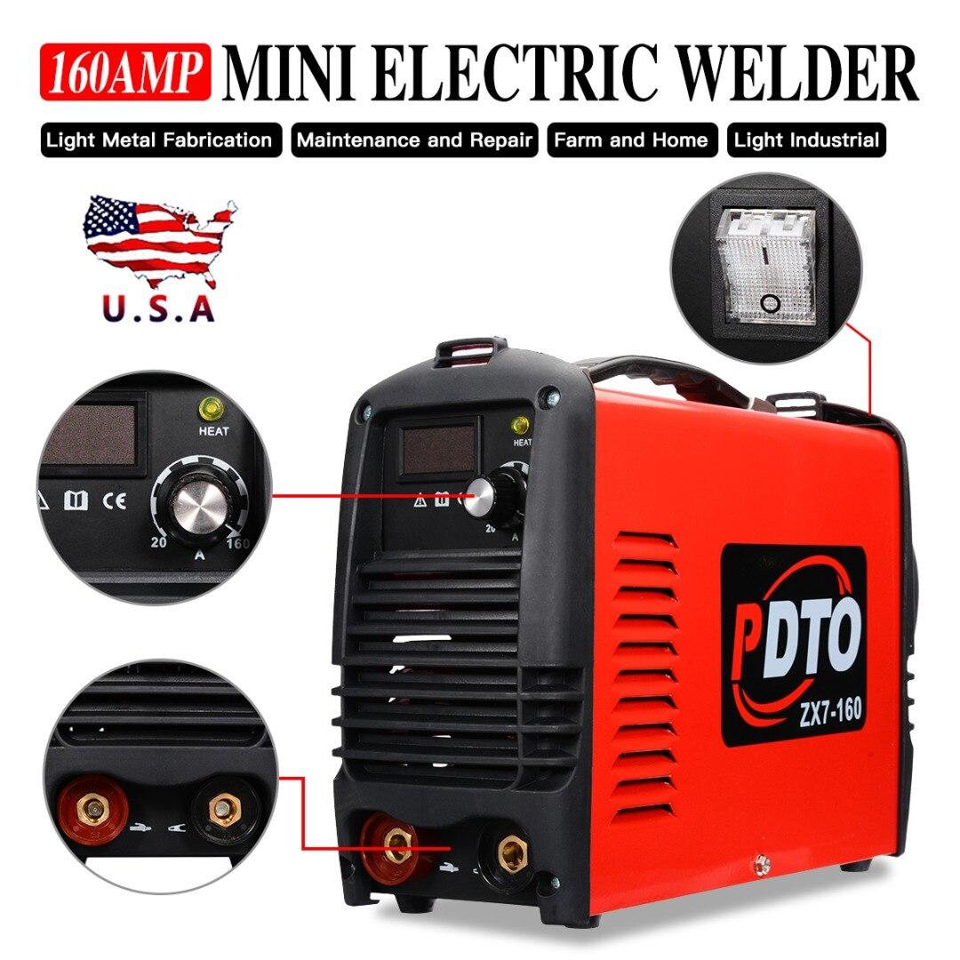 1 stücke Handheld Elektrische Schweißer 115/230V 20-160Amp Inverter Arc Elektrische Schweißen Maschine für Schweißen Arbeits und Elektrische arbeits