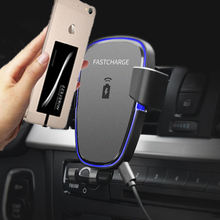 Car Mount Phone Holder Qi Wireless Charger For Samsung Galax
