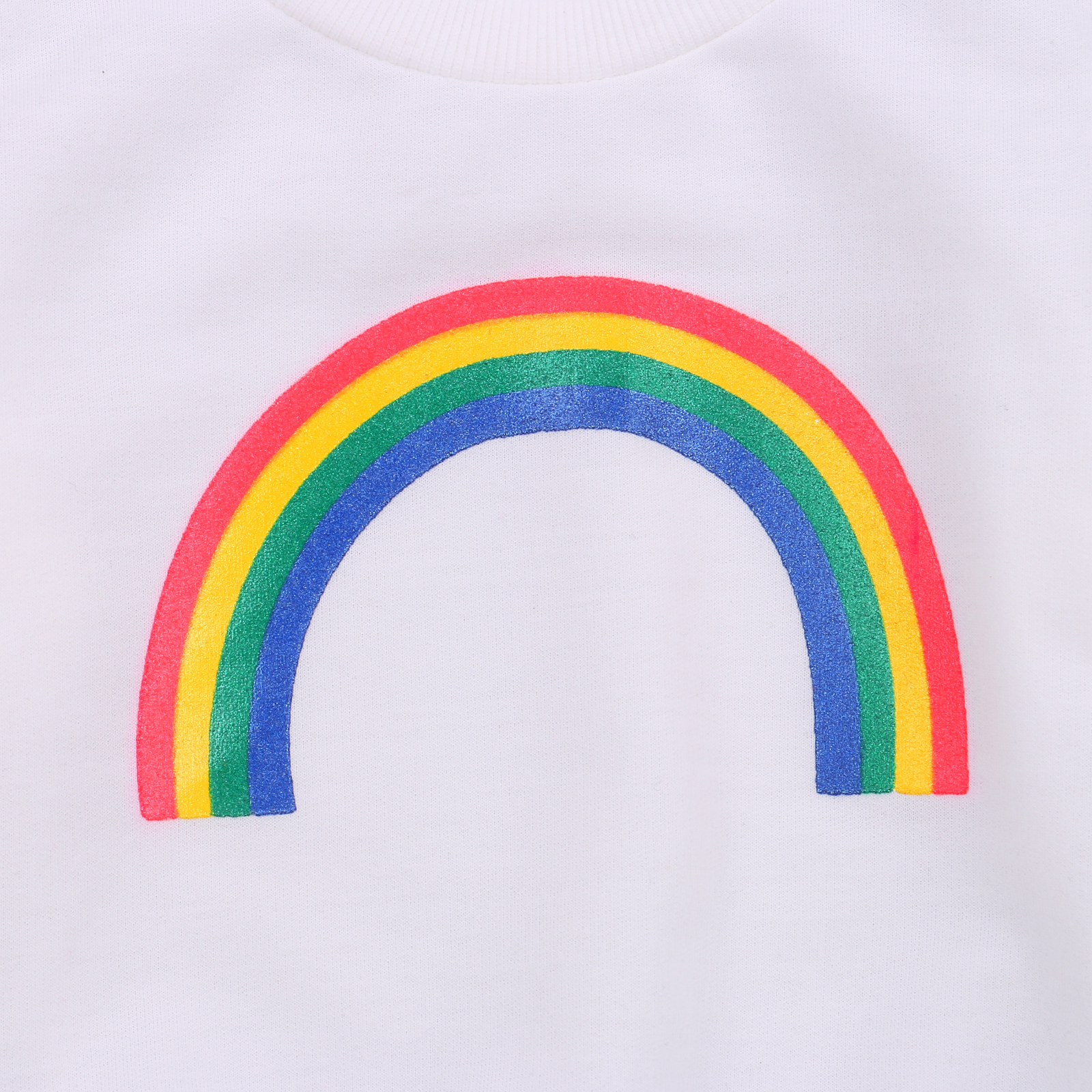 Pudcoco 2020 Autumn 0-3Y Toddler Baby Girl Boy Rainbow Pattern Print Long Sleeve Sweatshirt Infant Outfit Clothes White/Black 3
