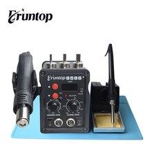 1 Set شاشة ديجيتال Eruntop 8586 + مكواة لحام كهربائية + مسدس هواء ساخن محطة إعادة العمل SMD ترقية من 8586