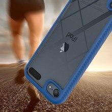 À prova de choque híbrido armadura tpu pára caso claro para apple ipod touch 7 6 5 anti choque silicone luxo duro volta telefone capa toque 5