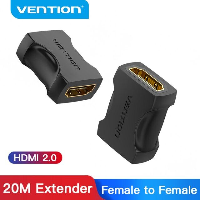 Bộ Chia Vention HDMI Nối Dài HDMI Nữ Để Nữ Cổng Kết Nối HDMI 4K 2.0 Mở Rộng Bộ Khớp Nối Cho PS4 Truyền Hình Cáp HDMI bộ Kéo Dài HDMI