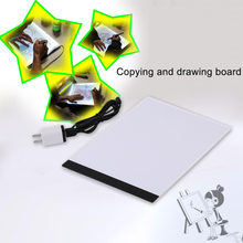 High Quality A4 LED Writing Painting Light Pad Copy Pad Drawing Tablet LED Tracing Painting Board 335x230x4mm with package box(China)