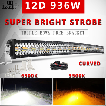 CO LIGHT 12D 22 32 42 50 Offroad Light Bar Dual Color 3-Row Led Work Light 12V Combo Beam 4x4 Led Bar 24V for Lada Truck SUV co light 12d 3 row car led light bar combo 32 405w led work light for tractor truck atv jeep led bar offroad auto driving light