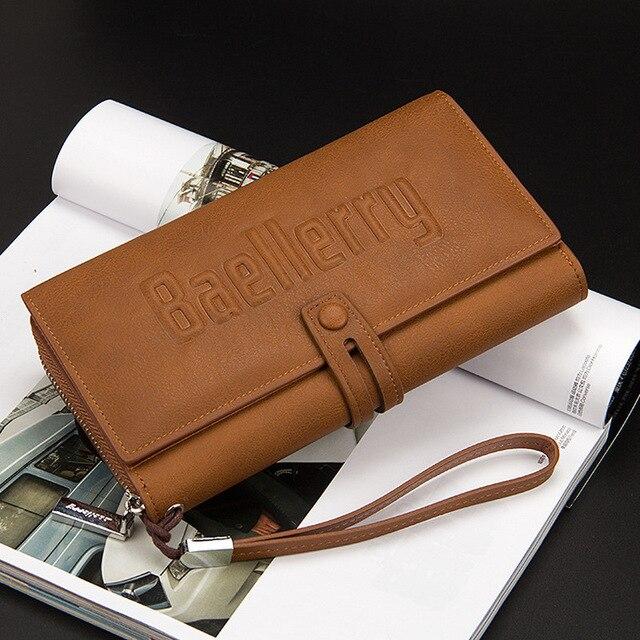 Baellerry Wallet Male Clutch Wallets Large Phone Bag Unique Design Men Purse Turnover Handbag Multifunction Card Holder Wallet 6