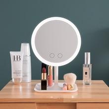 Espejo de maquillaje con luz led tocador espejo anillo de belleza espejo de luz herramientas de belleza para foto Luz de relleno espejos pequeños