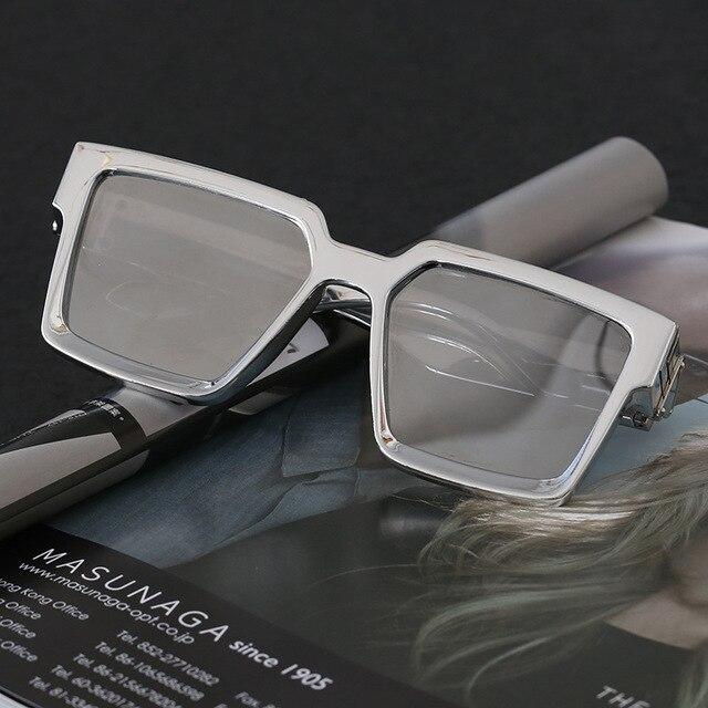 SHAUNA Retro Square Sunglasses Women Brand Designer Summer Styles Candy Colors Fashion Silver Mirror Shades Men UV400 3