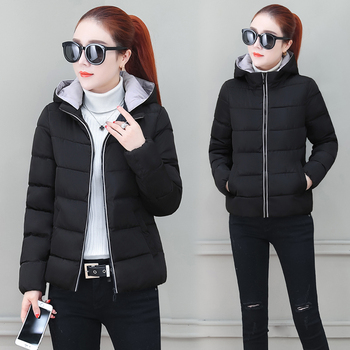 Winter Jacket Women Warm Thick Quilted Coats Slim Hooded Cotton Coat Ladies Casual Padded Parka Jackets Puffer Outerwear Female aimsnug women fashion winter jackets short warm coat grey color reflective short jacket 2019 girls sexy parka coats outerwear