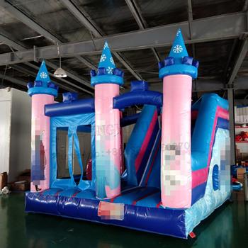 Śnieg projekt nadmuchiwany bramkarz PVC nadmuchiwany zamek Mini Bounce Combo dla dzieci rozrywka na zewnątrz tanie i dobre opinie DINGYURUI 3 lat Nadmuchiwany plac zabaw dla dzieci Plac zabaw na świeżym powietrzu