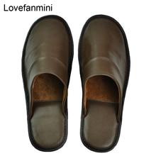 Pantofole in vera pelle di montone coppia coperta antiscivolo uomo donna casa moda casual scarpe singole suole in PVCsoft primavera estate
