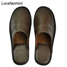 Zapatillas de piel de oveja auténtica para hombre y mujer, zapatos informales antideslizantes a la moda de hogar, suela de PVCsoft, para primavera y verano