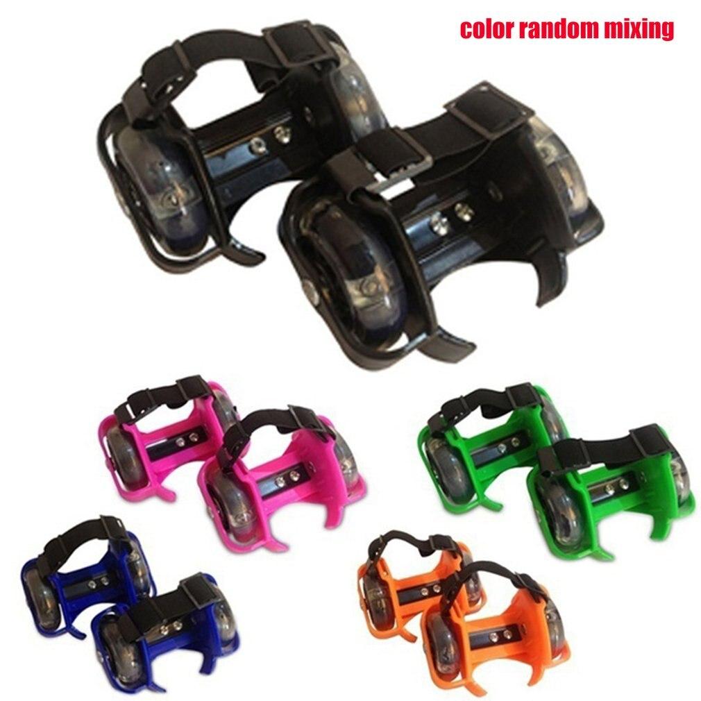 Children Roller Shoes Roller Skates Men And Women Single Wheel Children's Shoes Heelys Wheel Children's Shoes 6 Colors