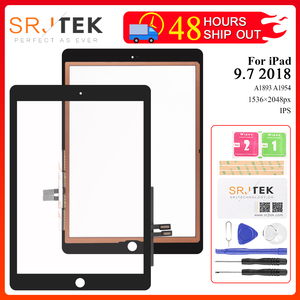 For iPad 2018 Touchscreen Digitizer For iPad 6 iPad 9.7 2018 Touch Screen Glass Panel Replacement Sensor A1893 A1954(China)