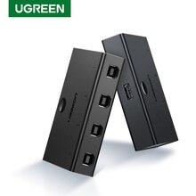 Ugreen KVM переключатель USB распределительный коммутатор 4/2 шт. 1 устройство 4/2 Порт KVM Селектор для клавиатуры принтер монитор USB переключатель KVM