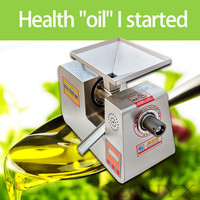 220V Stainless steel small automatic intelligent oil press sesame oil press peanut soybean oil squeezer rapeseed oil press