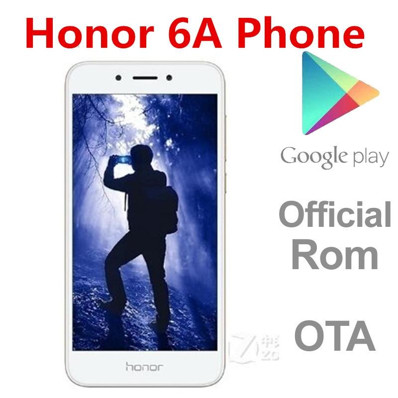 Dhl entrega rápida honra 6a 4g lte telefone inteligente android 7.0 snapdragon 430 núcleo octa impressão digital 3gb ram 32gb rom 13.0mp 5.0