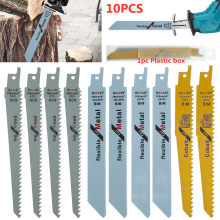 10pcs Reciprocating Saw Blades JigSaw Blade Handsaw Multi Saw Blade For Cutting Wood Metal For Bosch Makita Dewalt DIY Tools