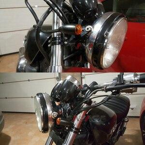 Image 5 - Für 41mm Gabel Motorrad Scheinwerfer Halterung Kopf Lampe Blinker Lichter Clamp Halter Vorne Motorrad Zubehör Aluminium