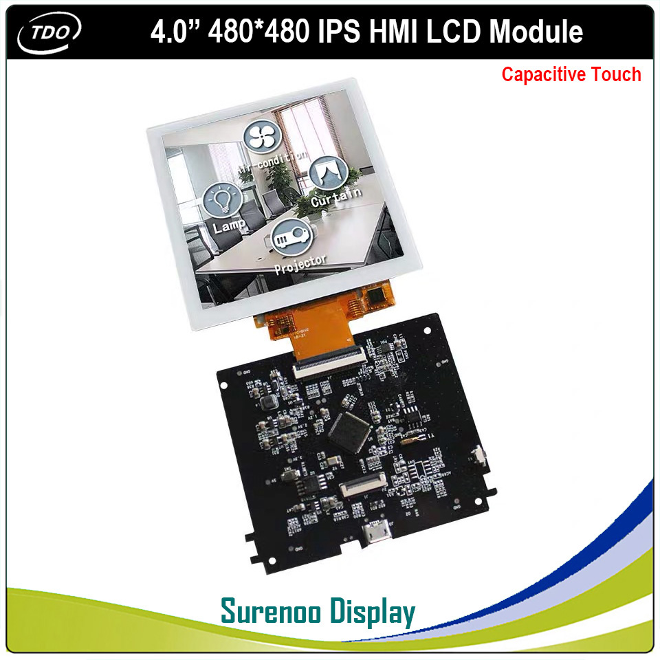 """4.0"""" Inch 480*480 HMI Smart Intelligent IPS TFT LCD Module Display Screen With Capacitive Touch Panel For Smart Home"""