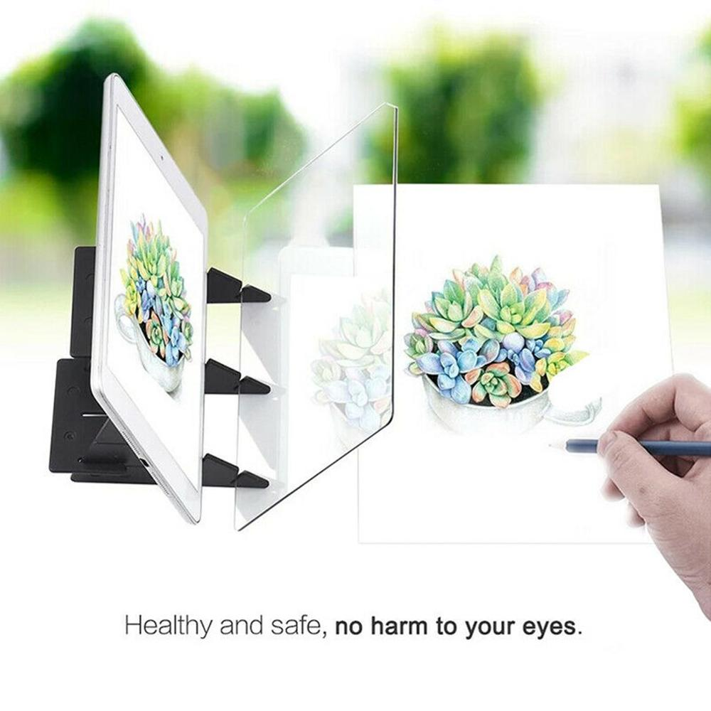 Optical Imaging Drawing Board Lens Sketch Specular Reflection Dimming Bracket Holder Painting Mirror Plate Tracing Copy Table 4