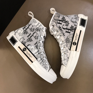 French Chare Harper 2021 new high top men's shoes original 100 logo top leather short boots high quality couple shoes with box