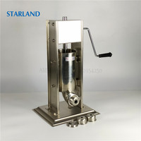 Churros Making Machine 2L Stainless Steel Sausage Maker Meat Filling Machine Vertical Churros Extruder 4 Types Modeling Caps