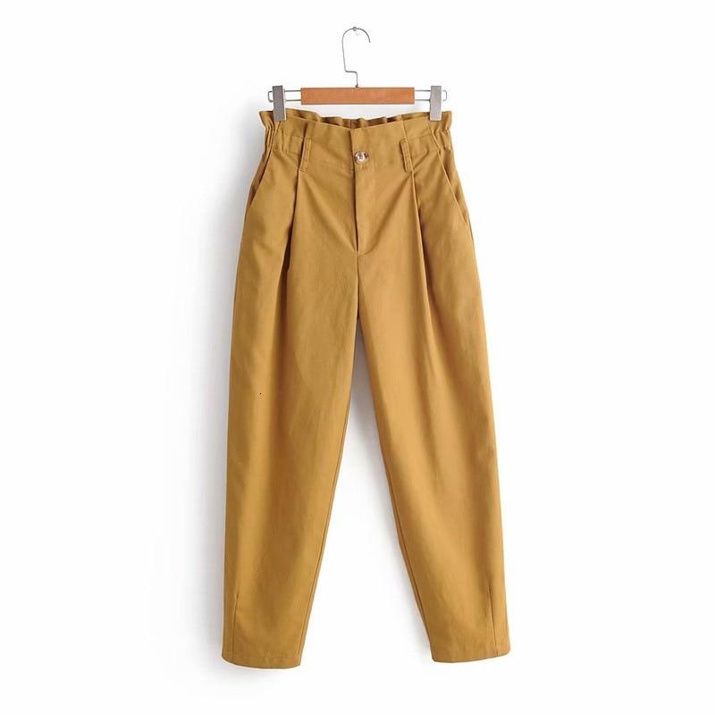 2019 Autumn Harem Pants High Waist Trousers Pleated Cargo Pants Women Casual Streetwear Pantalones Mujer