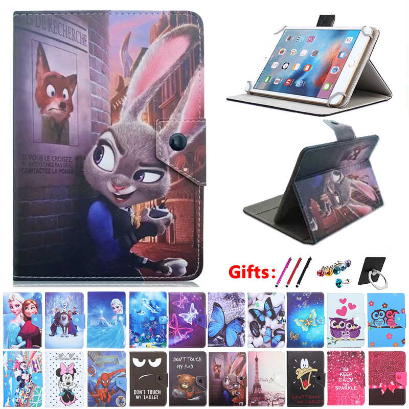 Universele case voor Prestigio MultiPad Wize 3408/3508/3608 4G/Grace 5588 7788 8 inch Tablet gedrukt PU Leather Stand cover