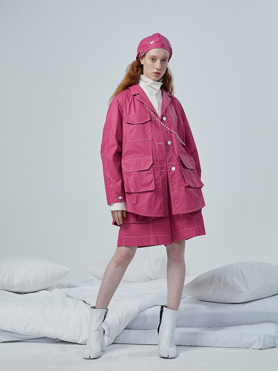 IRINACH180 20SS новая коллекция, плиссированная рубашка, куртка для женщин