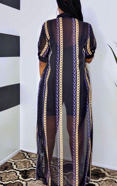 Summer Plus Size Mesh Shirt Maxi Dress For Women Casual See Through Short Sleeve Loose Long Shirt Dresses Women 2