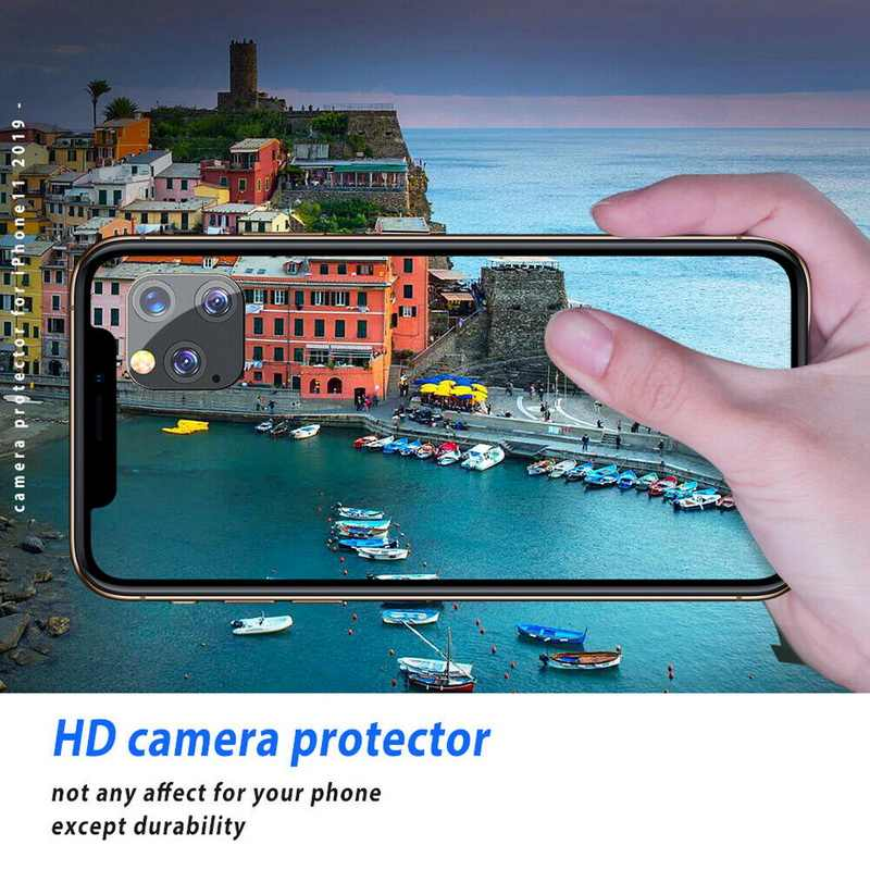 YIHSHANGOU 5-Pack كاميرا عودة حامي عدسة HD خفف زجاج عليه طبقة غشاء رقيقة آيفون 11 برو ماكس شاشة واقي الفيلم آيفون 11