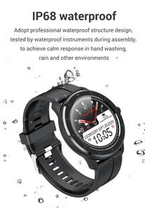 Image 5 - LEMFO ساعة ذكية الرجال النساء كامل شاشة تعمل باللمس مخصص مراقب معدل ضربات القلب رسالة تذكير الصحة الرياضة المقتفي Smartwatch T6