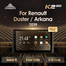 KingBeats штатное головное устройство For Renault Duster Arkana 2019 GPS Android 10 автомагнитола на андроид магнитола For Рено Квид For автомобильная мультимедиа Octa ...