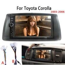 Автомагнитола MP5, мультимедийный видеоплеер Mirror Link для Toyota Corolla 2003-2006, комплект с обшивкой без Android