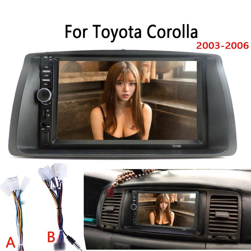 Автомагнитола MP5, мультимедийный видеоплеер Mirror Link для Toyota Corolla 2003 2006, комплект с обшивкой без Android|Мультимедиаплеер для авто|   | АлиЭкспресс