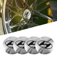 4 pçs 56mm cubo central do carro tampa roda adesivo acessórios para hyundai i10 i20 i30 i40 ix20 ix35 tucson solaris acento azera elantra