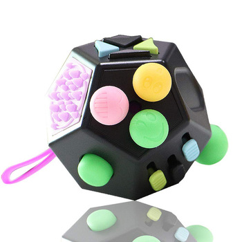 Decompression toy Cube Anti Stress ring Stress Relief cube Toy Anxiety Relief Color wooden cubes  creative decompression toys