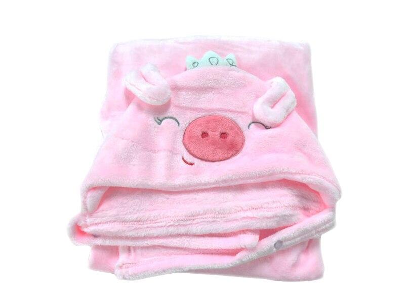 Hooded Animal Baby Blanket