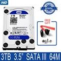 WD синий 3 ТБ внутренний жесткий диск 3,5