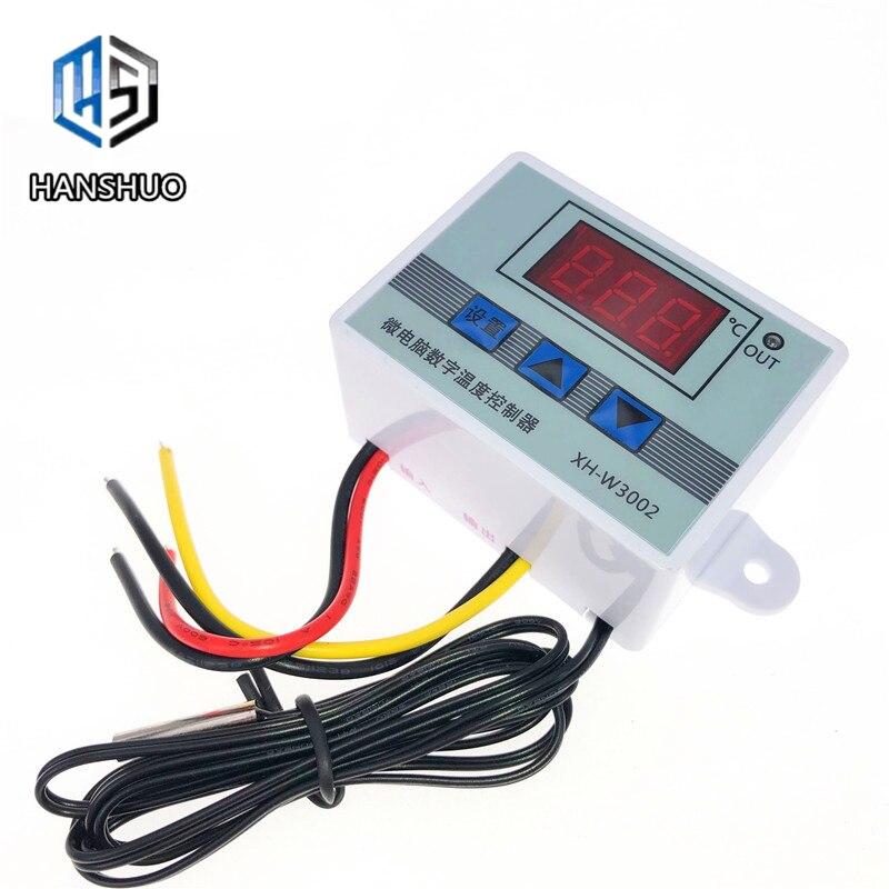 12V 24V 220V profesional W3002 controlador de temperatura Digital LED 10A regulador del termostato XH-3002