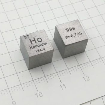 Free shipping High Purity 99.9 Pure Holmium Ho Carved Element Periodic Table 10mm Cube