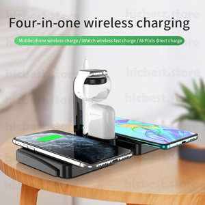 Image 2 - 3 ב 1 אלחוטי מטען Dock תחנה עבור iPhone 11 Airpods פרו אלחוטי טעינת מטען מגנטי עבור אפל שעון סדרה 5 4 3 2