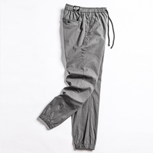 New cotton Casual Elastic Solid Drawstring Men Brand Joggers Male Trousers Pencil Pants Sweatpants Spring and Autumn 2019