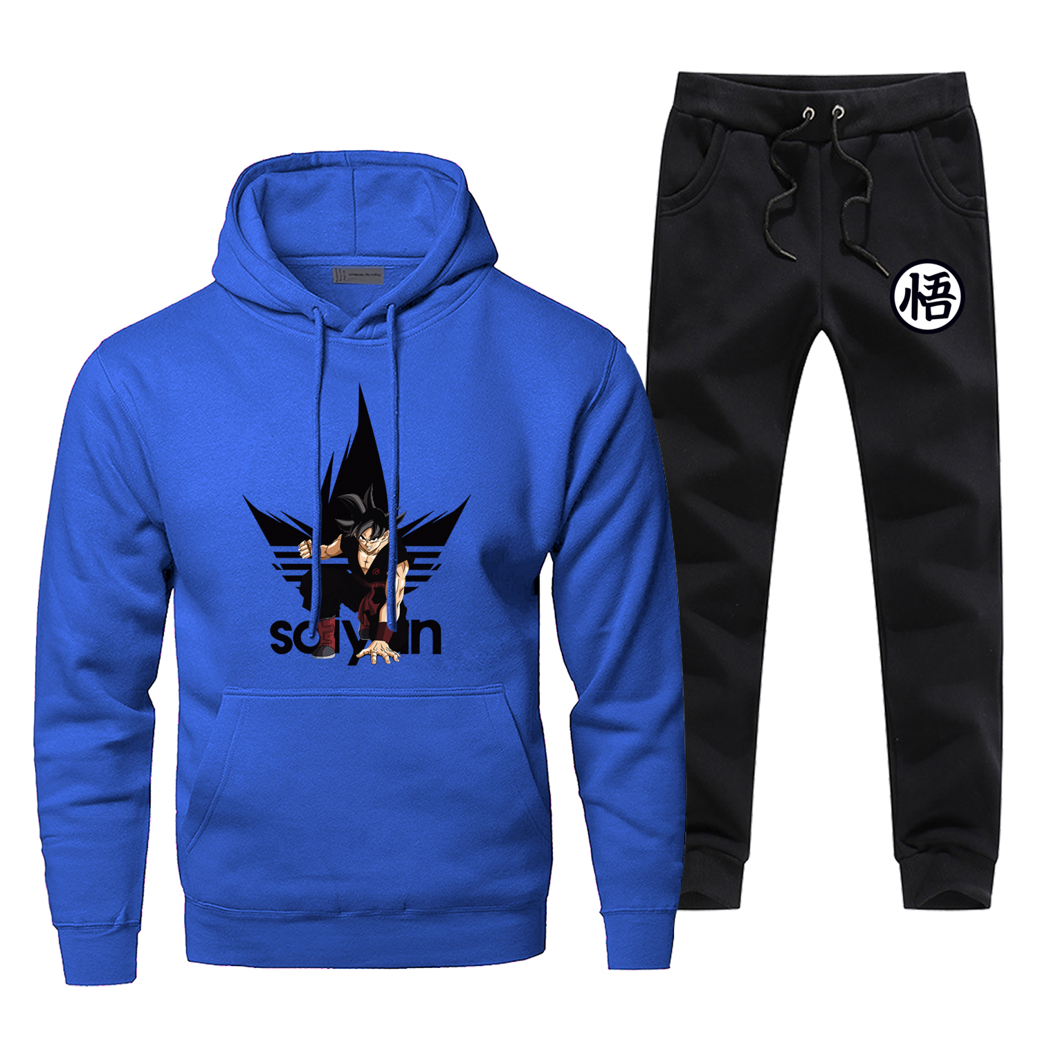 Dragon Ball Z Brand Man Tracksuit Fashion Super Saiyan Men's Sets Casual Japan Anime Men's Jogging Harajuku Bodywarmer Male Set