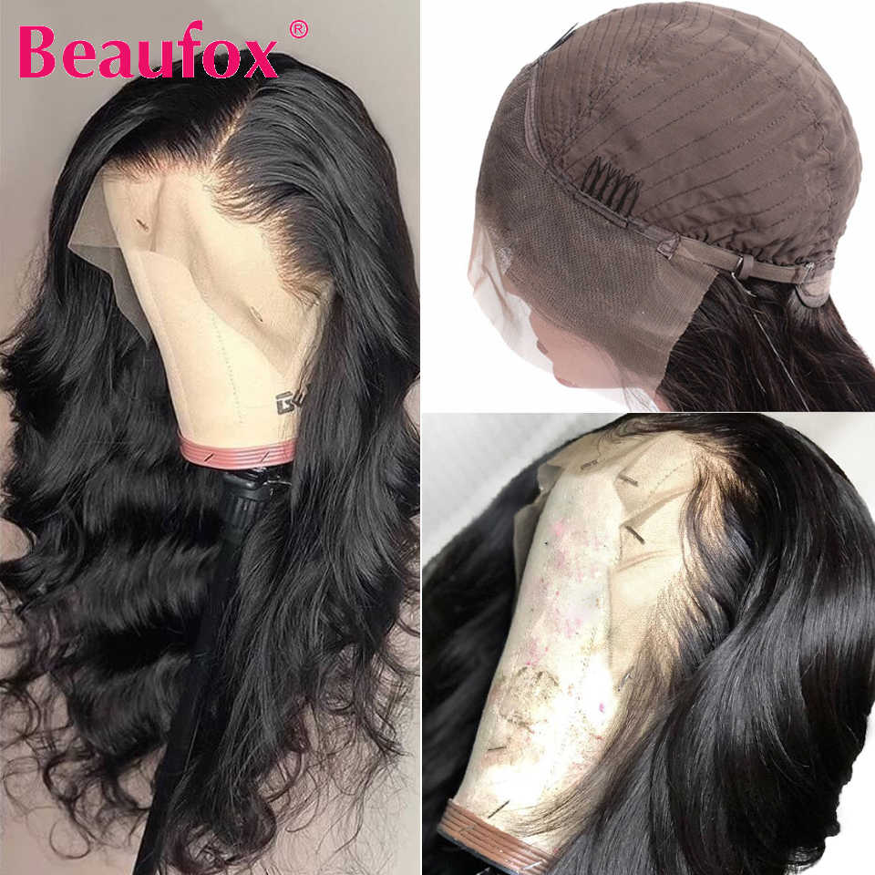 Beaufox 13x4 Lace Front Human Hair Wigs For Black Women Malaysian Body Wave Human Hair Lace Wigs Pre Plucked With Baby Hair Remy