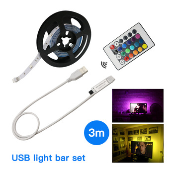 RGB LED light strip 5V SMD5050 flexbile TV backlight 16leds/M LED neon tape 1M 2M 3M hot sales for TV Screen PC amblight deco